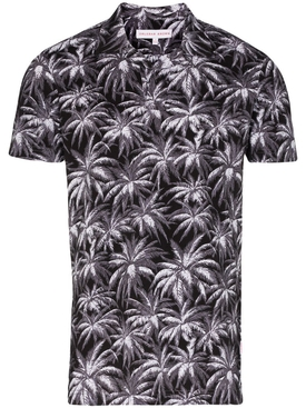Palm Tree Print Bowling Shirt