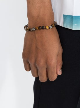 M. Cohen - Tigers Eye Beaded Bracelet - Men
