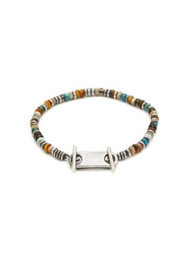 M. Cohen - 9 Mm Silver Plated Beaded Bracelet - Men