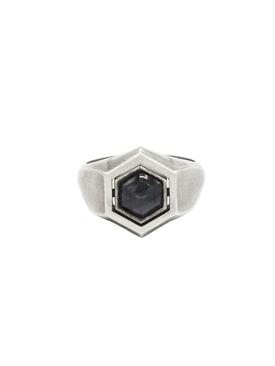 Hexagon spinning ring SILVER