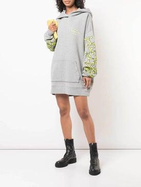 Amiri - Bones Print Hoodie Dress - Women