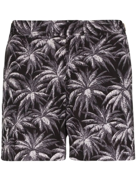 Palm Tree Print Swim Shorts