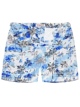 BULLDOG NICK TURNER ILLUSTRATION SWIM SHORTS