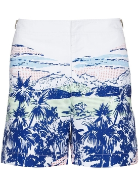 White Sand and Skydiver Pop print swim shorts