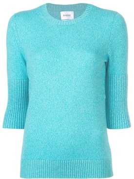 short-sleeve fitted sweater