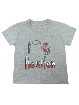 I Love Houston T-shirt GREY