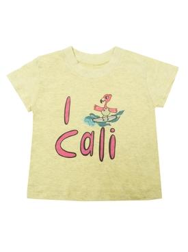 I Love Cali T-shirt YELLOW