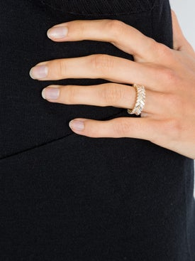 Anita Ko - Gold Zipper Ring - Fine Rings
