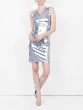 metallic dress SILVER