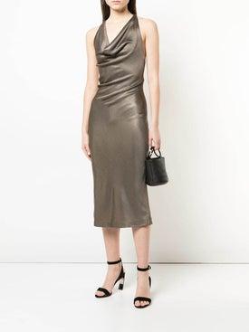 Cushnie - Metallic Halter Dress - Women