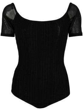 Cushnie - Ribbed Knit Bodysuit - Clothing