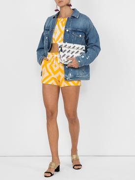 Biruhi Cropped puff blouse