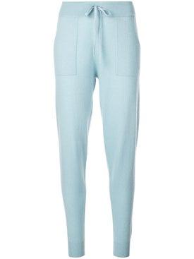Alexandra Golovanoff - Blue Paton Knitted Track Pants - Women