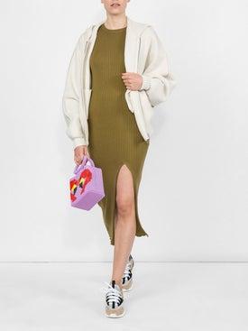Alexandra Golovanoff - Ribbed Knit Dress Green - Women