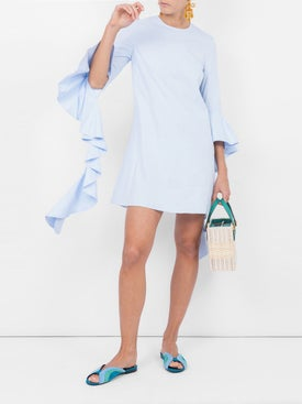 Ellery - Kilkenny Frill Dress Blue - Women