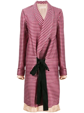 oversized striped coat MULTICOLOR