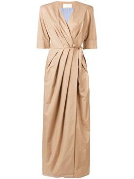 Sara Battaglia - Long Wrap Dress - Women