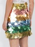 Sara Battaglia - Rainbow Sequin Mini Skirt - Women