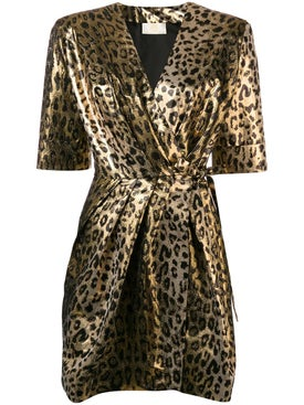 Sara Battaglia - Leopard Wrap Dress - Women
