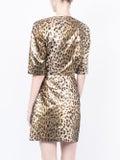 Sara Battaglia - Leopard Wrap Dress - Women