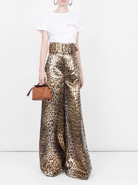 Sara Battaglia - Leopard Palazzo Pants - Women