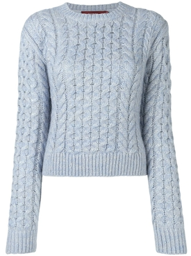 thatched cable sweater