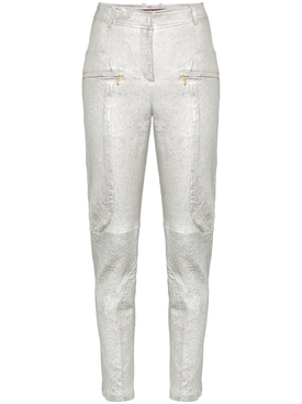 Brin Slim Fit Leather Trousers