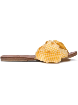 gingham Burkina Sandal