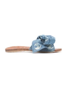 blue denim Burkina sandal BLUE