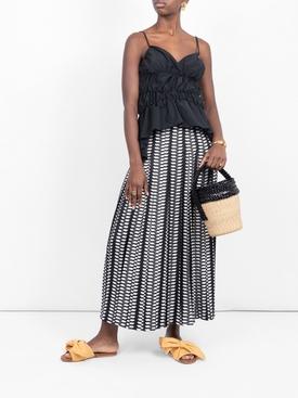 Yellow denim Burkina sandal YELLOW
