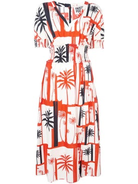 Fausto Puglisi - Palm Tree Print Dress - Women