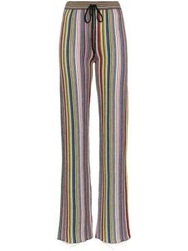 Marques'almeida - Stripe Slim Fit Merino Wool Trousers - Women