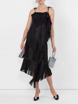 Marques'almeida - Fringed Asymmetric Skirt Black - Women