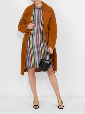 long sleeve striped wool dress