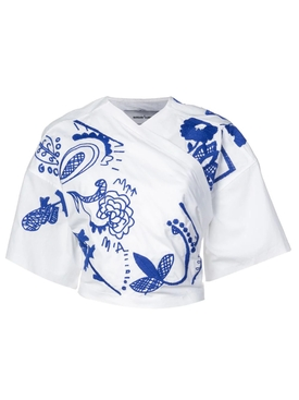 wrap front shirt