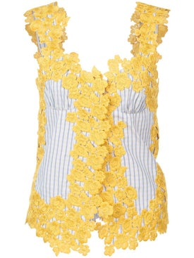 Rosie Assoulin - Floral Embroidered Top - Women