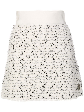 Russell White Wool Skirt
