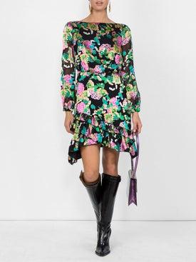 Saloni - Printed Dress - Women