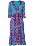 Saloni - Multi-print Dress Blue - Women