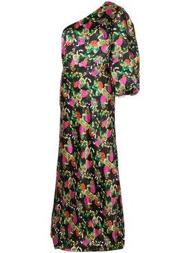 Saloni - Floral Printed Dress - Women