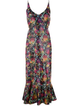 Saloni - Floral Midi Dress - Women