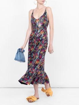 Saloni - Floral Midi Dress - Women