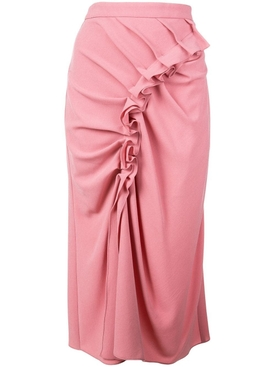 ruffled midi skirt DUSTY ROSE