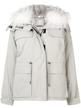 Yves Salomon - Fur Collar Puffer Jacket - Short