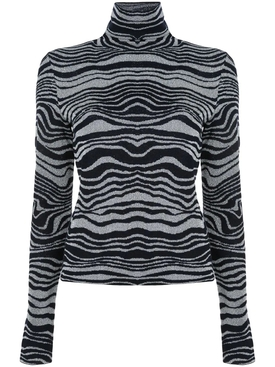 abstract pattern turtleneck