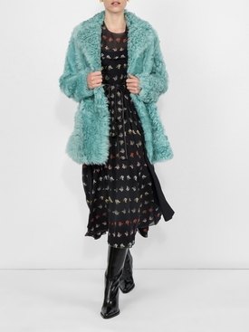 Mimosa Print Georgette Dress
