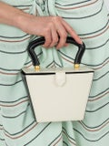 Staud - Cream And Black Mini Sadie Bag - Women
