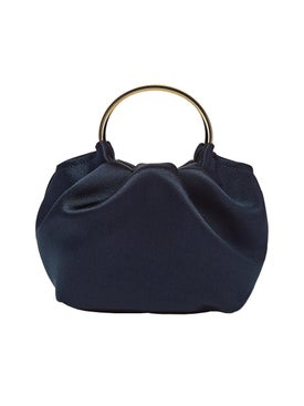 The Row - Micro Double Circle Bag Navy - Handbags