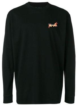 Marcelo Burlon County Of Milan - Flaming Basketball Long Sleeve T-shirt - Men