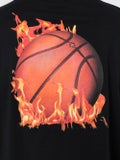 Marcelo Burlon County Of Milan - Flaming Basketball Long Sleeve T-shirt - Men